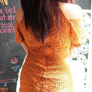 Material Girl Dresses - NEW Orange Lace Dress